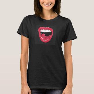 T-shirt chemise bouche cerise