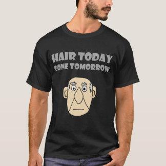 T-shirt Chemise chauve drôle de cheveux de type demain