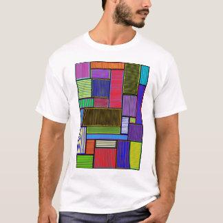 T-shirt Chemise colorée de lignes et de rectangles
