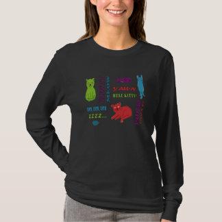 T-shirt Chemise colorée de minous
