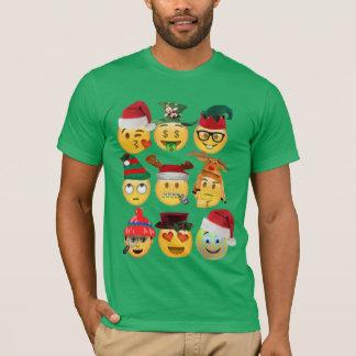 T-shirt chemise-conception drôle de collection d'emoji de