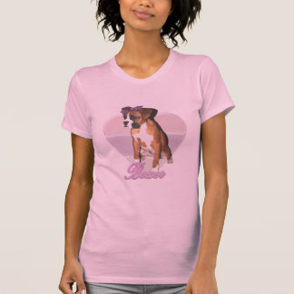 T-shirt Chemise d'amour de chiot de boxeur