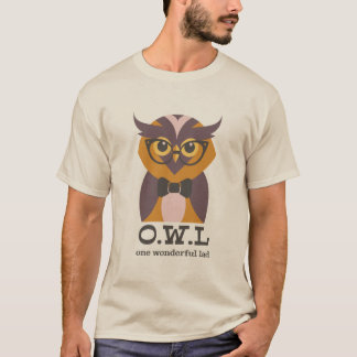 T-shirt Chemise d'amusement de hibou