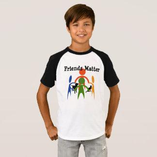 T-shirt Chemise d'autographe de matière d'amis