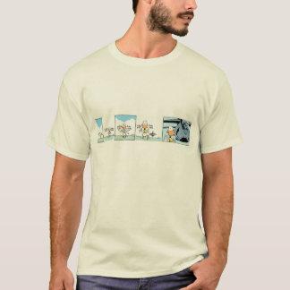 T-shirt Chemise de bande dessinée d'avion de chasse de