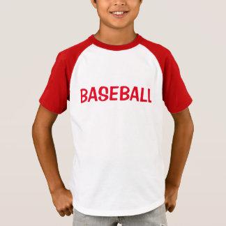 T-shirt Chemise de base-ball de garçons