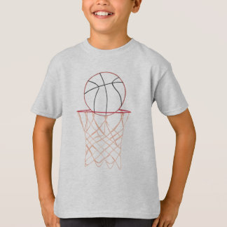 T-shirt Chemise de basket-ball de dessin d'ensemble