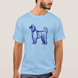 T-shirt Chemise de bleu de lévrier afghan