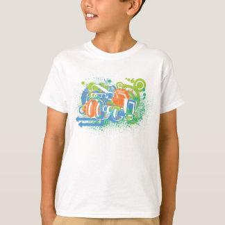 T-shirt Chemise de camion de monstre d'enfants