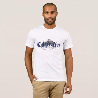 """T-shirt Chemise de """"capitaine"""" pour les hommes"""