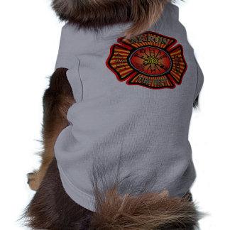 T-shirt Chemise de chien de corps de sapeurs-pompiers