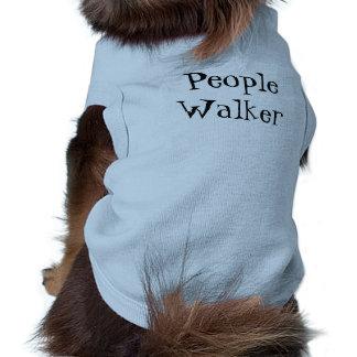 T-shirt Chemise de chien de marcheuse de personnes