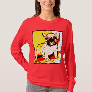 T-shirt Chemise de chiot de bouledogue français