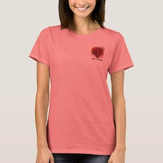 T-shirt Chemise de conception de poche de Red Fleur De Lis