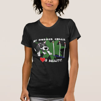 T-shirt Chemise de dames Twofer de border collie d'agilité