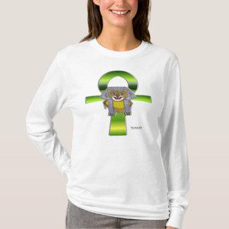 T-shirt Chemise de douille de dames de Sekhmet Ankh longue