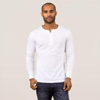 T-shirt Chemise de douille de Henley de la toile des
