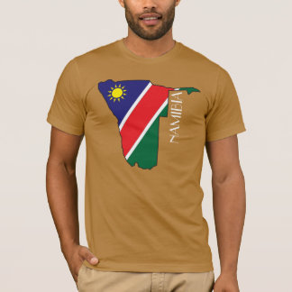 T-shirt Chemise de Drapeau-Carte de la Namibie