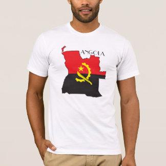 T-shirt Chemise de Drapeau-Carte de l'Angola