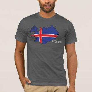 T-shirt Chemise de Drapeau-Carte de l'Islande