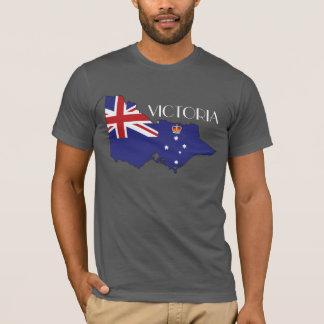 T-shirt Chemise de Drapeau-Carte de Victoria