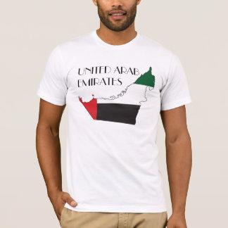 T-shirt Chemise de Drapeau-Carte des Emirats Arabes Unis