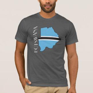 T-shirt Chemise de Drapeau-Carte du Botswana