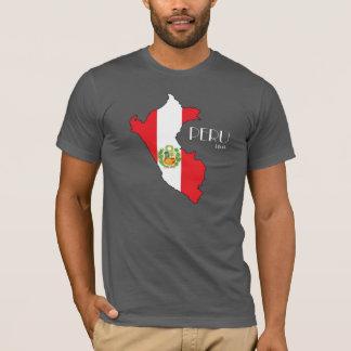 T-shirt Chemise de drapeau de carte du Pérou