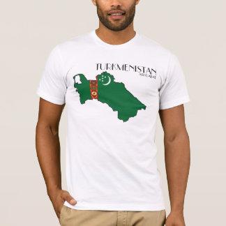 T-shirt Chemise de drapeau de carte du Turkménistan