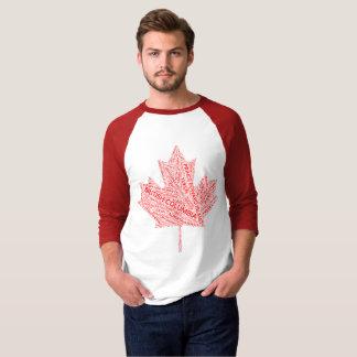 T-shirt Chemise de feuille d'érable du Canada