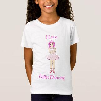 T-Shirt Chemise de filles de ballet d'Anime