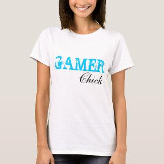 T-shirt Chemise de Gamer de fille de jeu vidéo de poussin
