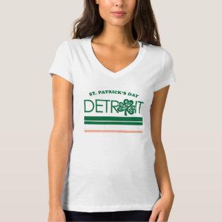 T-shirt Chemise de jour de Detroit St Patrick de la femme