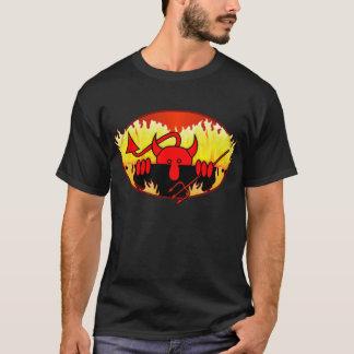 T-shirt Chemise de Kilroy de diable - noir