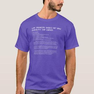 T-shirt Chemise de la recette de l'ingénieur drôle