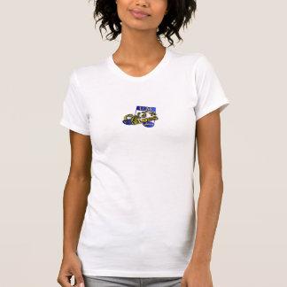 T-shirt chemise de logo de jazz de bleus de gold'n