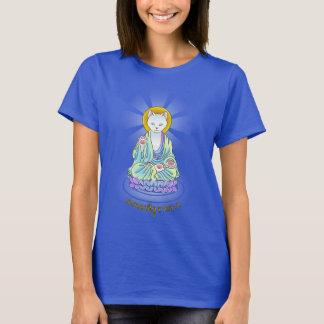 T-shirt Chemise de Lotus de chat de Bouddha de Meow de