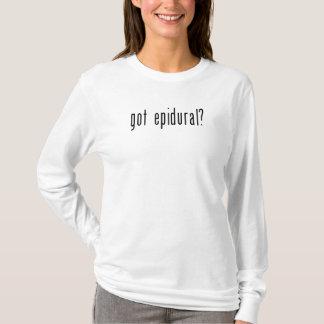 T-shirt Chemise de maternité drôle épidurale obtenue