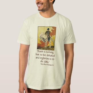 T-shirt Chemise de napoléon avec la citation sur le