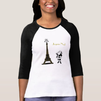 T-shirt Chemise de Noël de Paris de Tour Eiffel de Joyeux