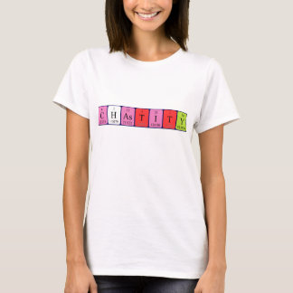 T-shirt Chemise de nom de table périodique de chasteté