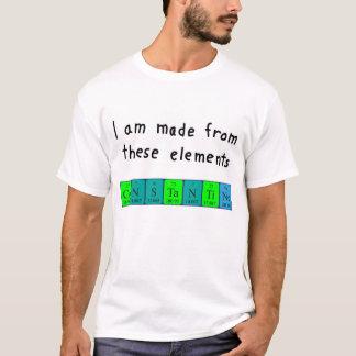 T-shirt Chemise de nom de table périodique de Constantine