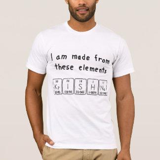 T-shirt Chemise de nom de table périodique de Krishna