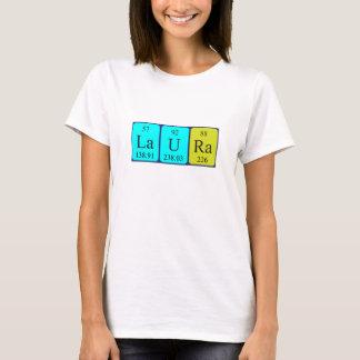 T-shirt Chemise de nom de table périodique de Laura