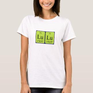 T-shirt Chemise de nom de table périodique de Lulu