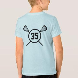 T-shirt Chemise de nombre de la lacrosse de l'enfant