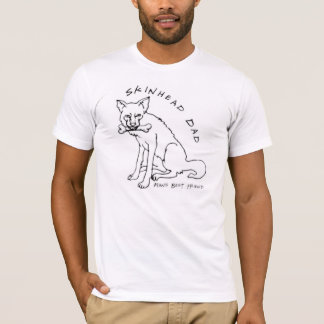 T-shirt chemise de papa de skinhead