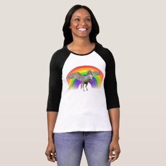 T-shirt Chemise de Pegasus de licorne d'arc-en-ciel