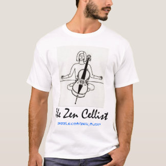 T-shirt Chemise de promo de violoncelliste de zen