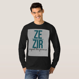 T-shirt Chemise de pronoms de Ze Zir